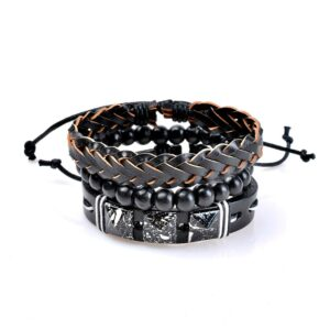 3-Piece Bracelet Set with String Elements