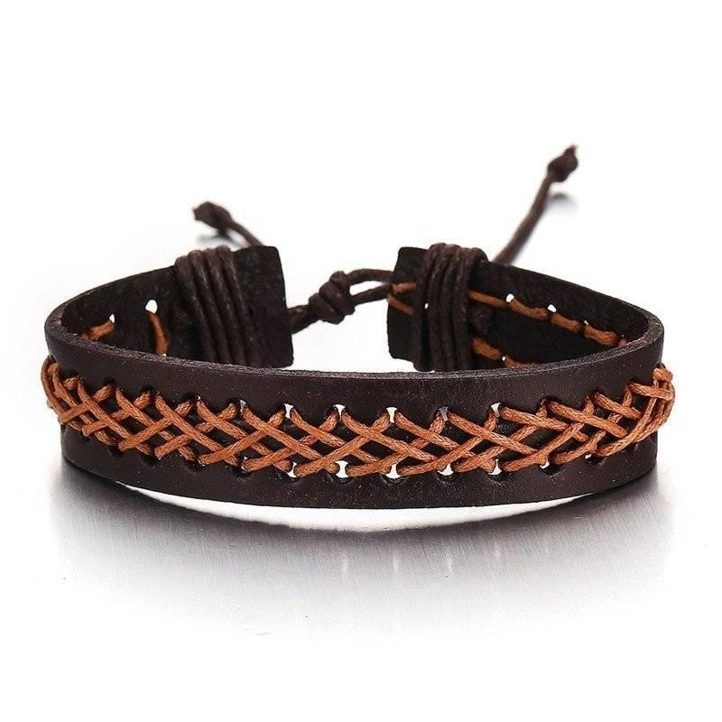 3-Piece Bracelet Set in Brown Orange Tones