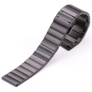solid stainless steel watch band with hidden butterfly clasp