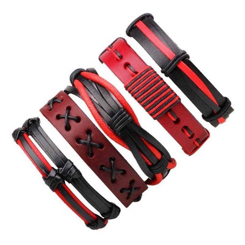 5-Piece Bracelet Set with Color Details