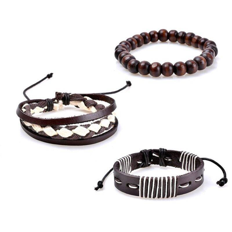 3-Piece Bracelet Set with String Elements