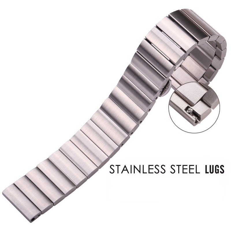 Hidden Bands: Solid Stainless Steel Watch Band With Hidden Butterfly