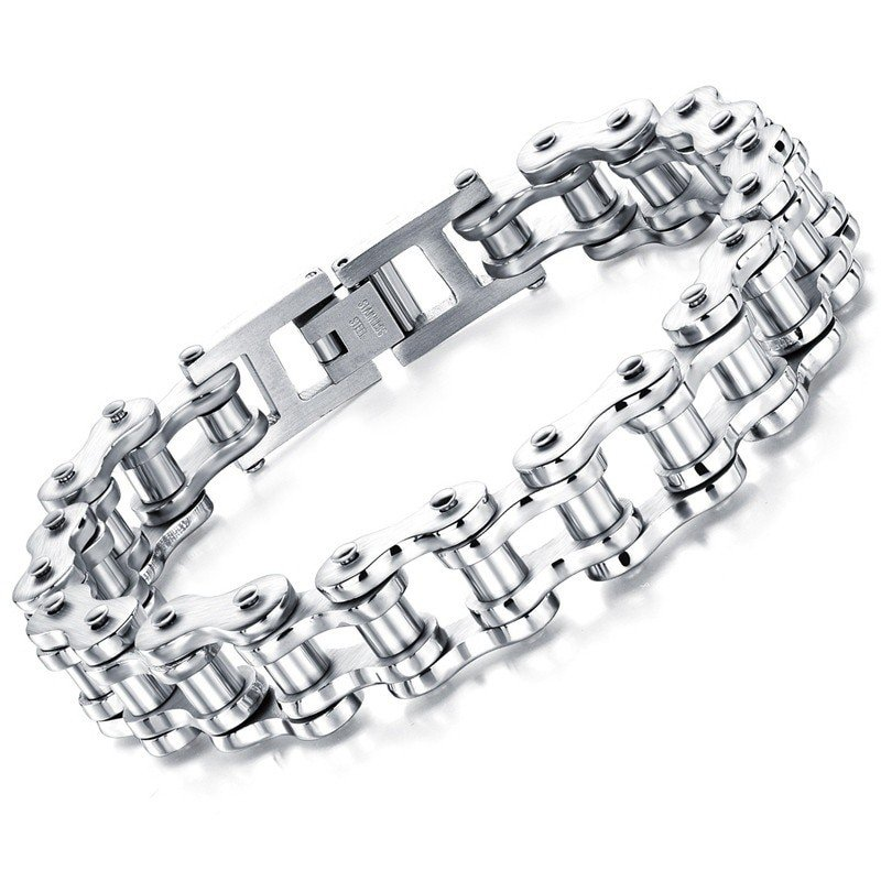 Stainless Steel Bike Chain Bracelet