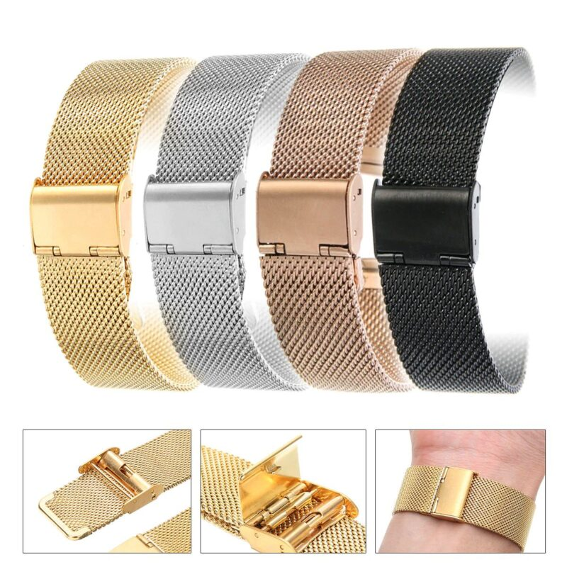 Stainless Steel Mesh Watch Band with Adjustable Clasp 14
