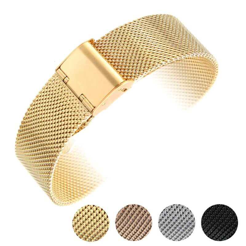 Stainless Steel Mesh Watch Band with Adjustable Clasp 15