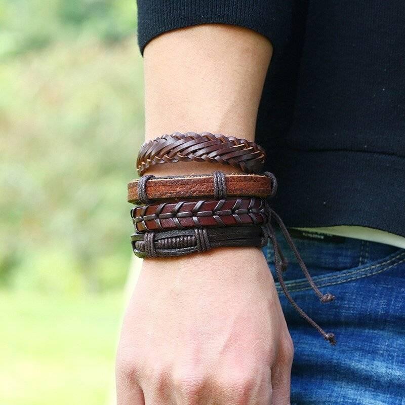 12-Piece Brown Bracelet Mega Set