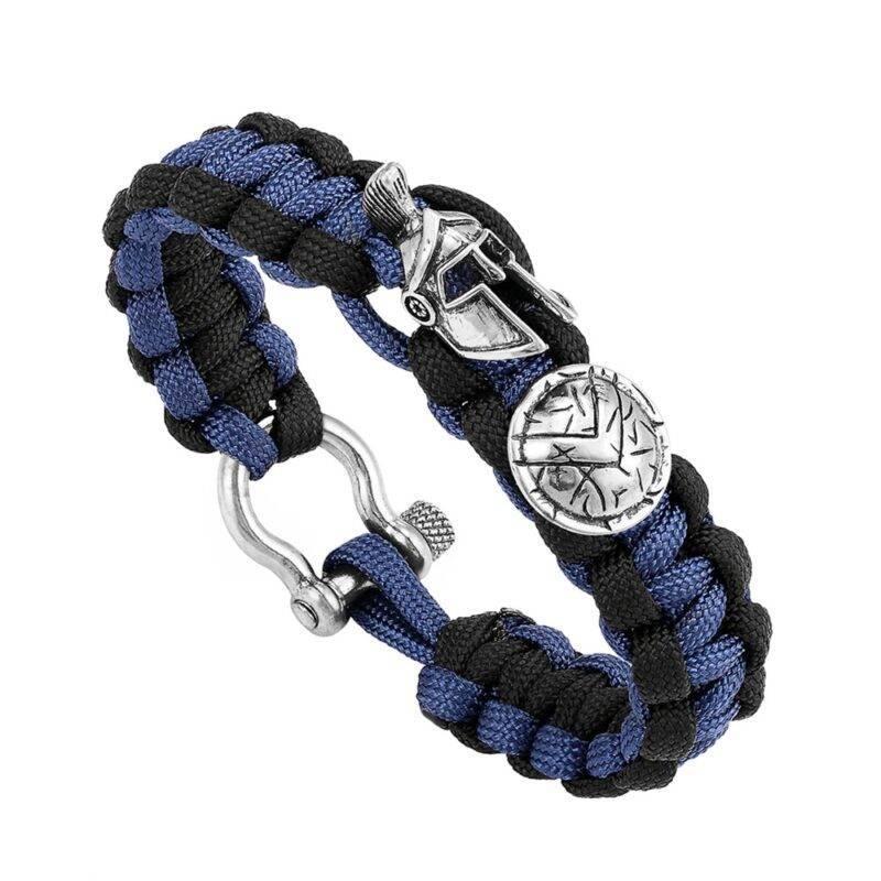 Helmet and Shield Spartan Paracord Bracelet
