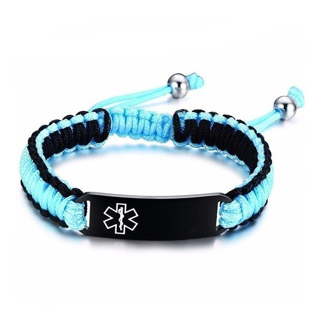 Easy Adjustable Paracord Medical ID Bracelet