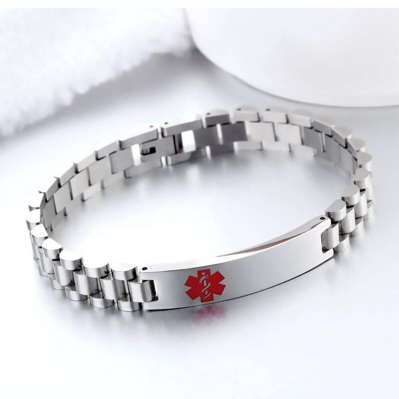 Stainless Steel Engravable Medical Alert Bracelet