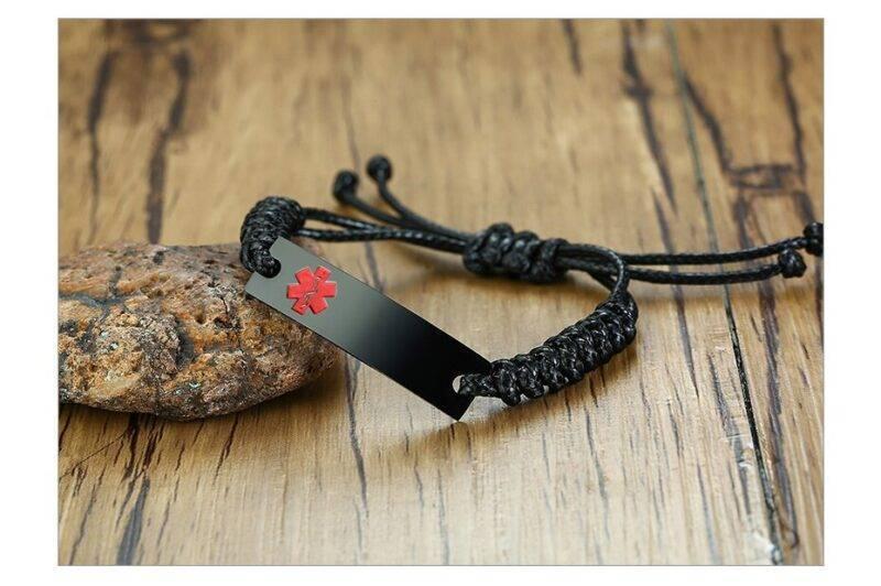 Wax Rope Easy Adjustable Medical Bracelet