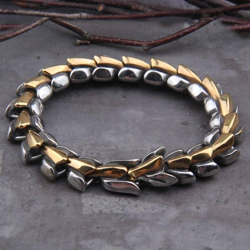Jormungandr Bracelet with Wooden Gift Box